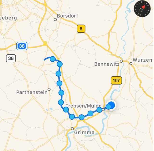 unsere Ballon-Route