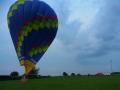 Landung auf einer Wiese